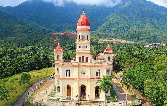 The sanctuary El Cobre Virgen of Charity, Santiago de Cuba, Cuba.