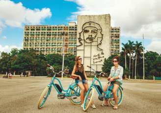 Tour by electric bicycle, Havana, Cuba