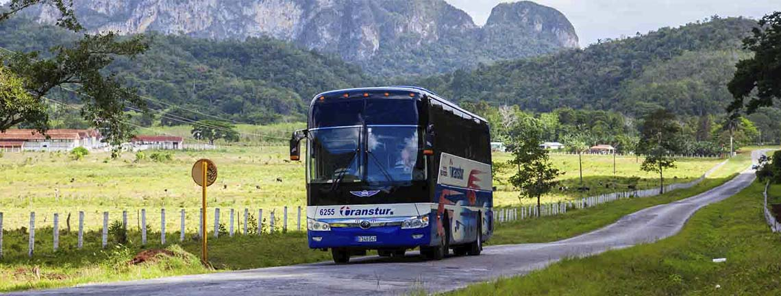 Bus Transtur, option de transport à Pinar del Río