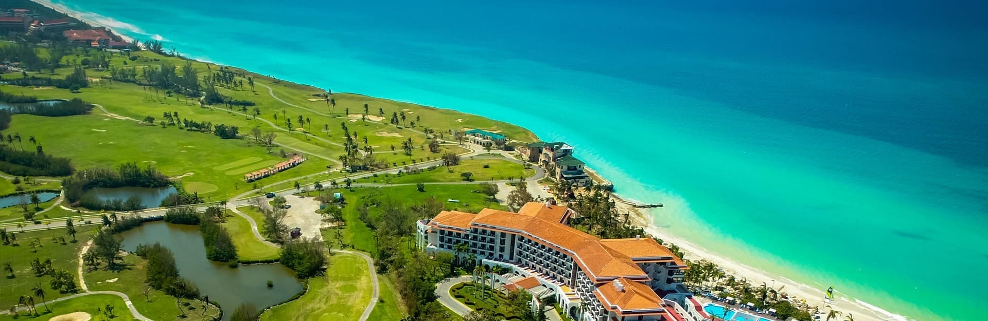 Aerial view of Varadero Golf Course, Cuba
